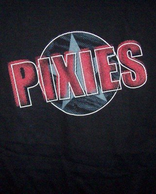 The Pixies T-Shirt Star Logo Tour Black Size Large