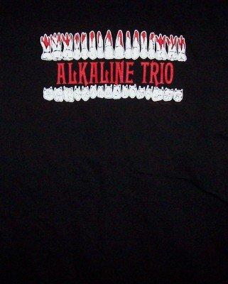 Alkaline Trio T-Shirt Teeth Logo Black Size Large