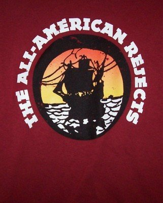 All-American Rejects T-Shirt Pirate Ship Maroon Size Medium