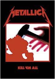 Metallica Poster Flag Black Kill 'em All Tapestry