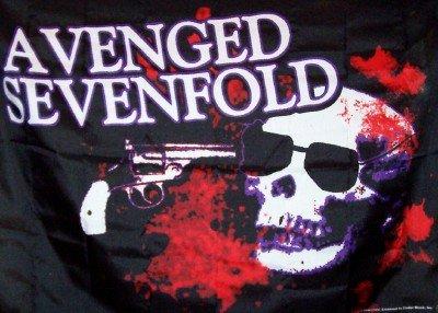 Avenged Sevenfold Poster Flag Gun Skull Tapestry