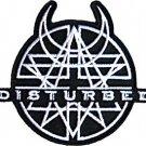 Disturbed Iron-On Patch Black Amulet Logo