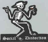 Social Distortion Vinyl Sticker Martini Skeleton