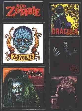 Rob Zombie Vinyl Sticker Set
