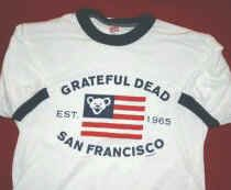 Grateful Dead Ringer T-Shirt Flag San Francisco Size Medium