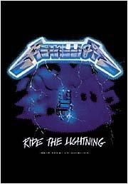 Metallica Poster Flag Ride The Lightning Tapestry