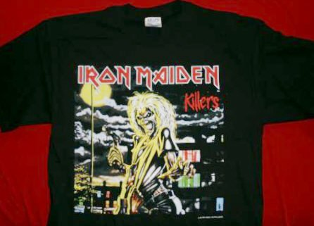 Iron Maiden T-Shirt Killers Black Size XL