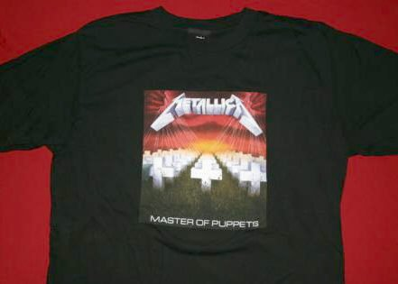 Metallica T-Shirt Master of Puppets Black Size Large