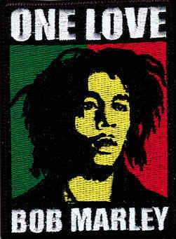 Bob Marley Iron-On Patch Rectangle One Love