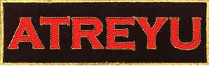 Atreyu Iron-On Patch Red Letters Logo