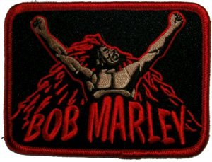 Bob Marley Iron-On Patch Arise Logo