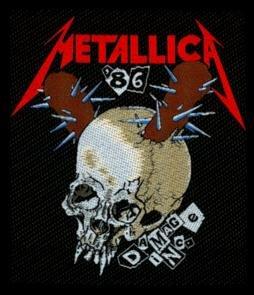 Metallica Sew On Patch Damage Inc.