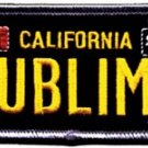 Sublime Iron-On Patch License Plate