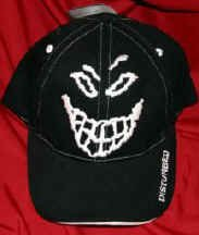 Disturbed Hat Baseball Cap Black Face Logo Size Small Medium