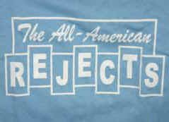 All-American Rejects T-Shirt Blocks Logo Blue Size Medium
