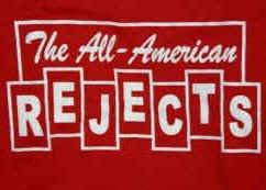 All-American Rejects T-Shirt Blocks Logo Red Size Large