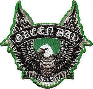 Green Day Iron-On Patch Eagle Logo