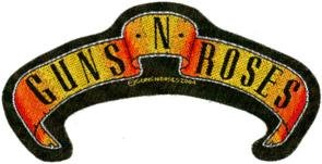 Guns n' Roses Sew On Patch Scroll Logo
