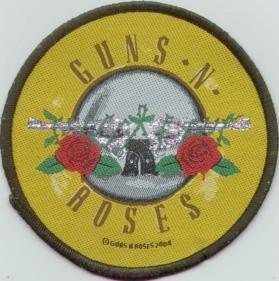 Guns n' Roses Sew On Patch Circle Logo
