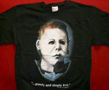Halloween T-Shirt Simply Evil Black Size Medium