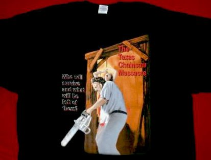 Texas Chainsaw Massacre T-Shirt Leatherface Black Size Medium