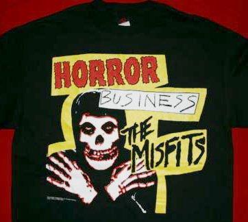 Misfits T-Shirt Horror Business Black Size Large