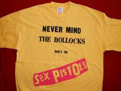 Sex Pistols T-Shirt Never Mind the Bullocks Yellow Size XL