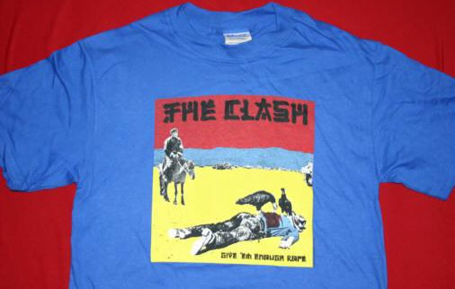 The Clash T-Shirt Give 'em Enough Rope Blue Size Large