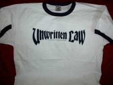 Unwritten Law Ringer T-Shirt Letters Logo White Size XL