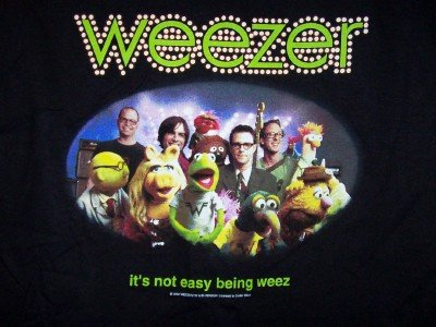 Weezer Muppets T-Shirt Not Easy Being Weez Size XL