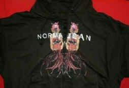 Norma Jean Zipper Hoodie Sweatshirt Black Size XL
