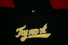 Taproot Hoodie Sweatshirt Baseball Logo Black Size Medium