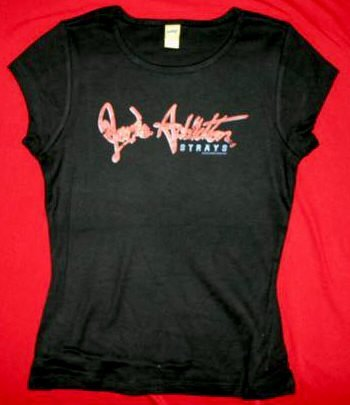 Jane's Addiction Babydoll T-Shirt Strays Black Size Medium