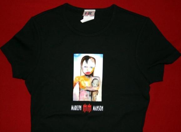 Marilyn Manson Babydoll T-Shirt Hand of Glory Black Size Large