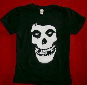 Misfits Babydoll T-Shirt Skull Black Size Medium