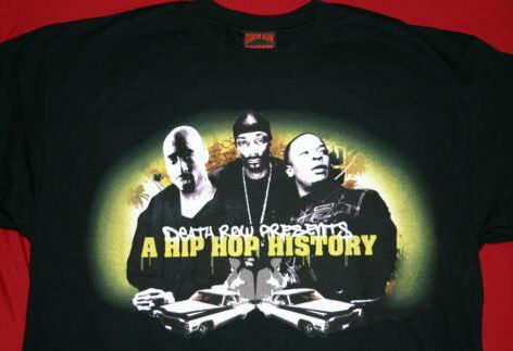 Death Row Records T-Shirt Hip Hop History Black Size XL