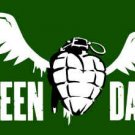 Green Day Poster Flag Winged Grenade Tapestry