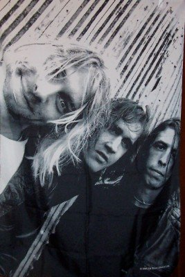 Nirvana Poster Flag Band Photo Tapestry