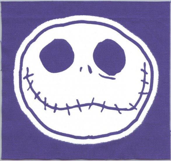 Nightmare Before Christmas Sew On Patch Head Canvas