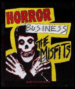 Misfits Sew On Patch Horror Business Logo