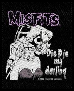 Misfits Sew On Patch Die Die My Darling Logo