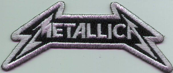 Metallica Iron-On Patch Silver Letters Logo