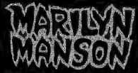 Marilyn Manson Sew On Patch Silver Letters Logo