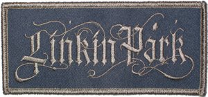Linkin Park Iron-On Patch Gothic Letters Logo