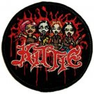 Kittie Iron-On Patch Circle Cartoon Logo