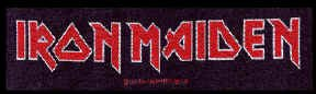 Iron Maiden Sew On Patch Letters Logo