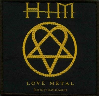 HIM Sew On Patch Love Metal Heartagram