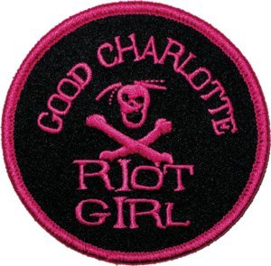 Good Charlotte Iron-On Patch Riot Girl Logo