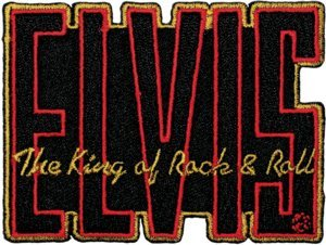 Elvis Presley Iron-On Patch King of Rock and Roll