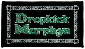 Dropkick Murphys Iron-On Patch Green Letters Logo